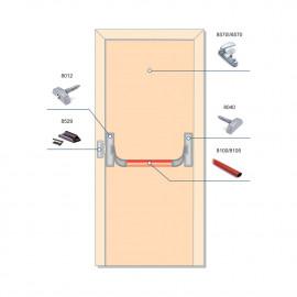 Комплект антипаники PANAMA для эвакуационного выхода: 1-створчатая дверь, 1 точка запирания