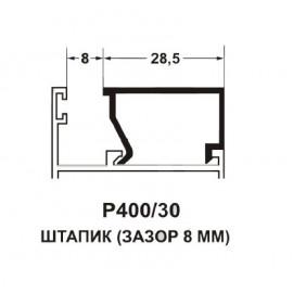 Штапик 28,5мм 9016