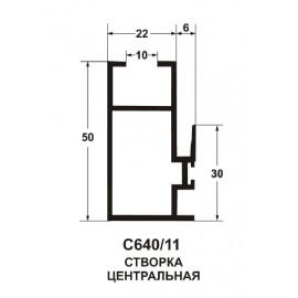 Створка вертикальная центральная 9016